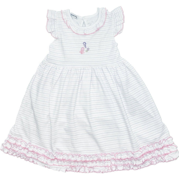 Magnolia Baby Ocean Wonders Embroidered Ruffle Toddler Dress