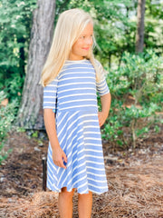 Abbey Dress in Navy