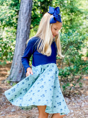 Vignette Merliee Dress in Teal Dandelion