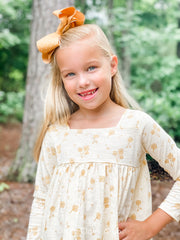 Vignette Rylie Long Sleeve Ivory Dandelion Dress