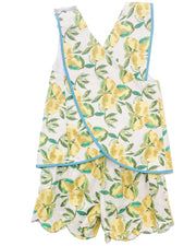 Le' Za Me Lemon Cross Back Short Set