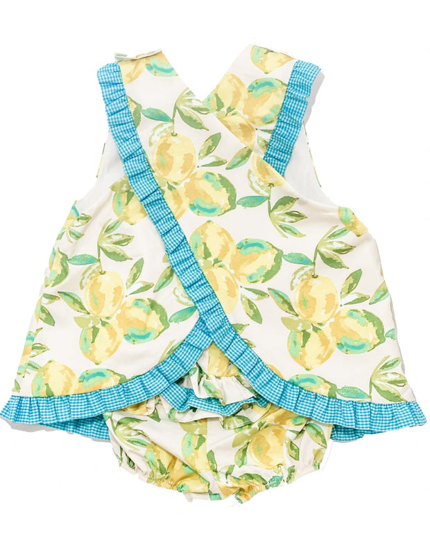 Le' Za Me Lemon Cross Back Bloomer Set