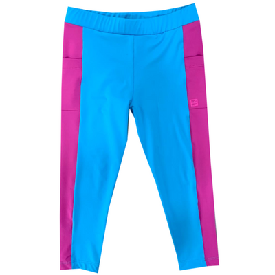 Set Lila Legging - Teal/Fuchsia
