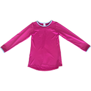 Set Lindsay Long Tee - Fuchsia/Lt. Blue