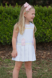 Magnolia Dress in White, Pink & Yellow