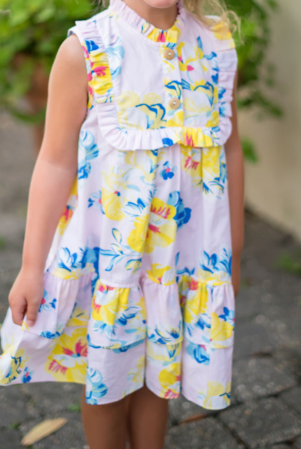 Seaside Sun Riley Ruffle Dress