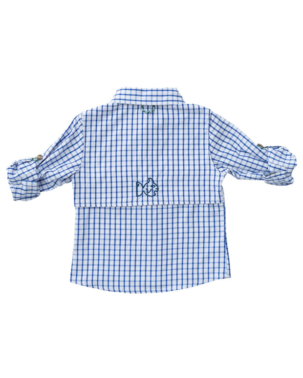 Vented Back Fishing Shirt in Blueberry Pie PRE-SALE