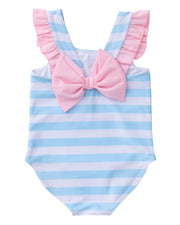 Bow Back Swimsuit in Arctic Stripe PRE-SALE