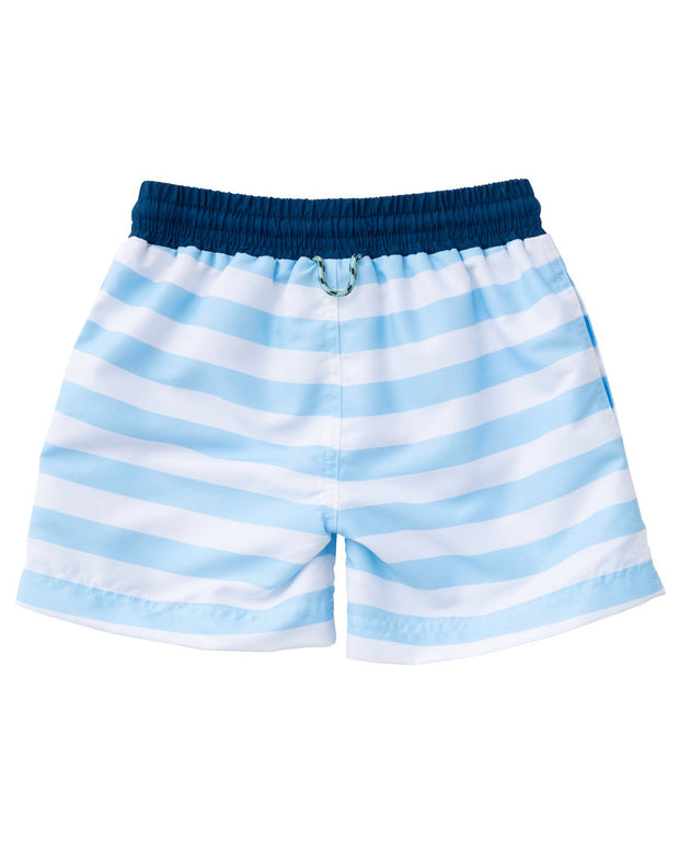 Swim Trunk in Arctic Stripe
