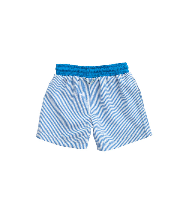 Prodoh Swim Trunk in Seersucker Stripe