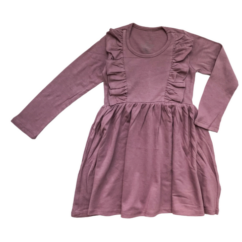 Long Sleeve Vayda Dress in Orchid