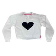 Set Stella Sweater - White/Navy Heart/Pink Tape