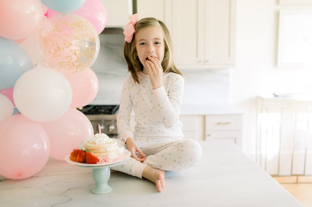 Sweet Pea PJ Set - Party Pink