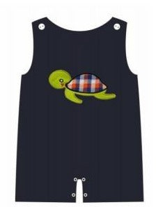 Sea Turtle Appliqué Navy Shortall