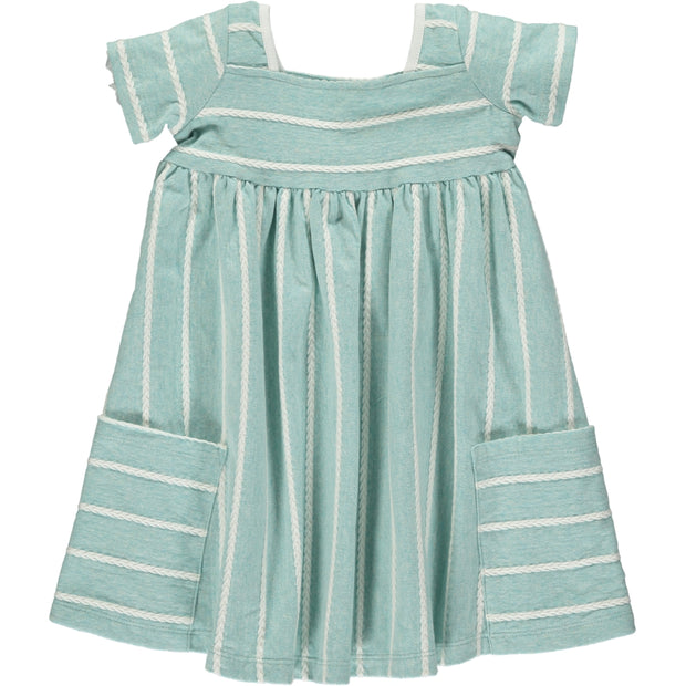 Vignette Rylie Short Sleeve Aqua Dress