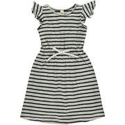 Vignette Veronica Dress in Navy Stripe