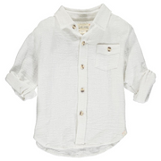 White Long-sleeve Button-up Shirt