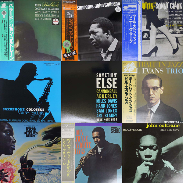 JAZZ LPs mixed by OBI & without OBI(Japanese Press)