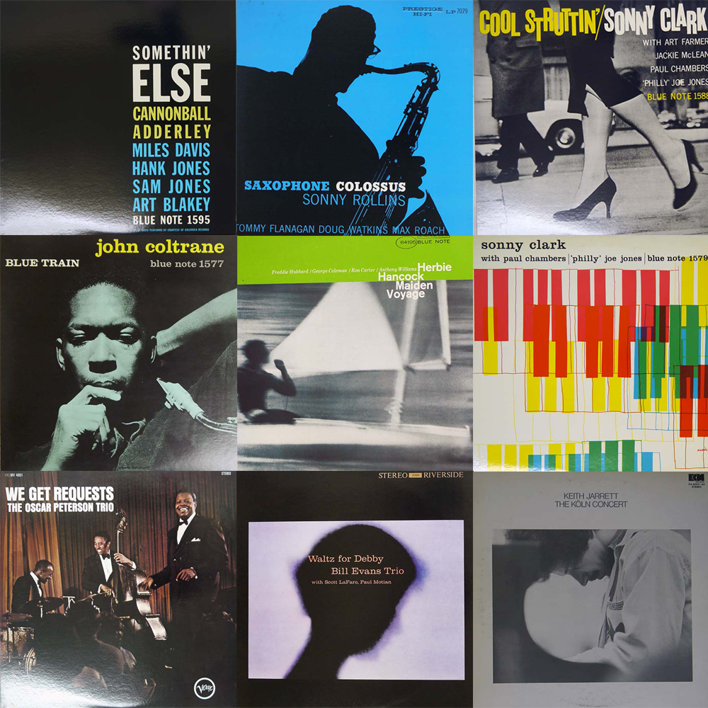 JAZZ LPs without OBI(Japanese Press)