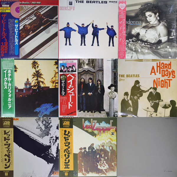 ROCK/POPS LPs mixed by OBI & without OBI(Japanese Press)