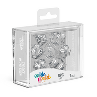 Oakie Doakie Dice RPG Set Translucent - Clear (7) - Oakie Doakie Dice - Rare Roleplay