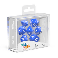 Oakie Doakie Dice RPG Set Solid - Blue (7) - Oakie Doakie Dice - Rare Roleplay