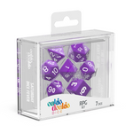 Oakie Doakie Dice RPG Set Solid - Purple (7) - Oakie Doakie Dice - Rare Roleplay