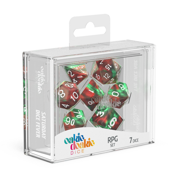 Oakie Doakie Dice RPG Set GemiDice - Bloody Jungle (7) - Oakie Doakie Dice - Rare Roleplay