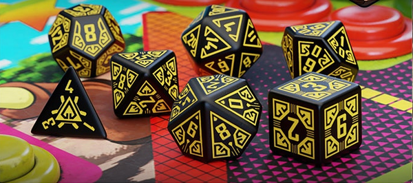 Arcade - Dice Set Black/Yellow (7)