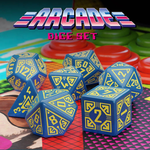 Arcade - Dice Set Blue/Yellow (7)