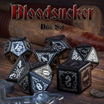 Bloodsucker - Dice Set Black/Silver (7)