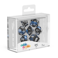Oakie Doakie Dice RPG Set Glow in the Dark - Deep Ocean (7) - Oakie Doakie Dice - Rare Roleplay