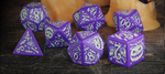 Halloween Pumpkin - Dice Set Purple/Green (7)