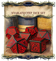 Call of Cthulhu - Outer Gods Nyarlathotep Dice Set Kickstarter Edition - Q-Workshop - Rare Roleplay