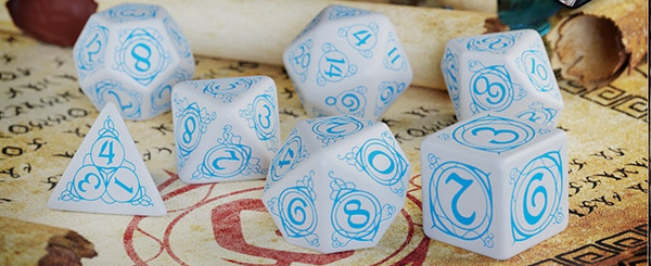 Wizard - Dice Set Blue/White (7)