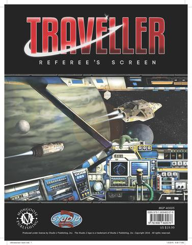Traveller Referee's Screen - Mongoose Publishing - Rare Roleplay