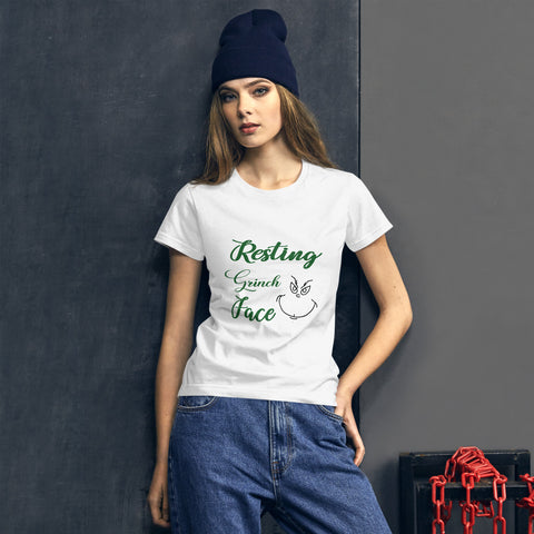 Resting Grinch Face short sleeve t-shirt