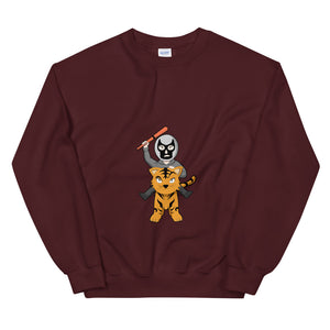 Masked Man Riding Tiger Chibi Sweatshirt - Chodmunch