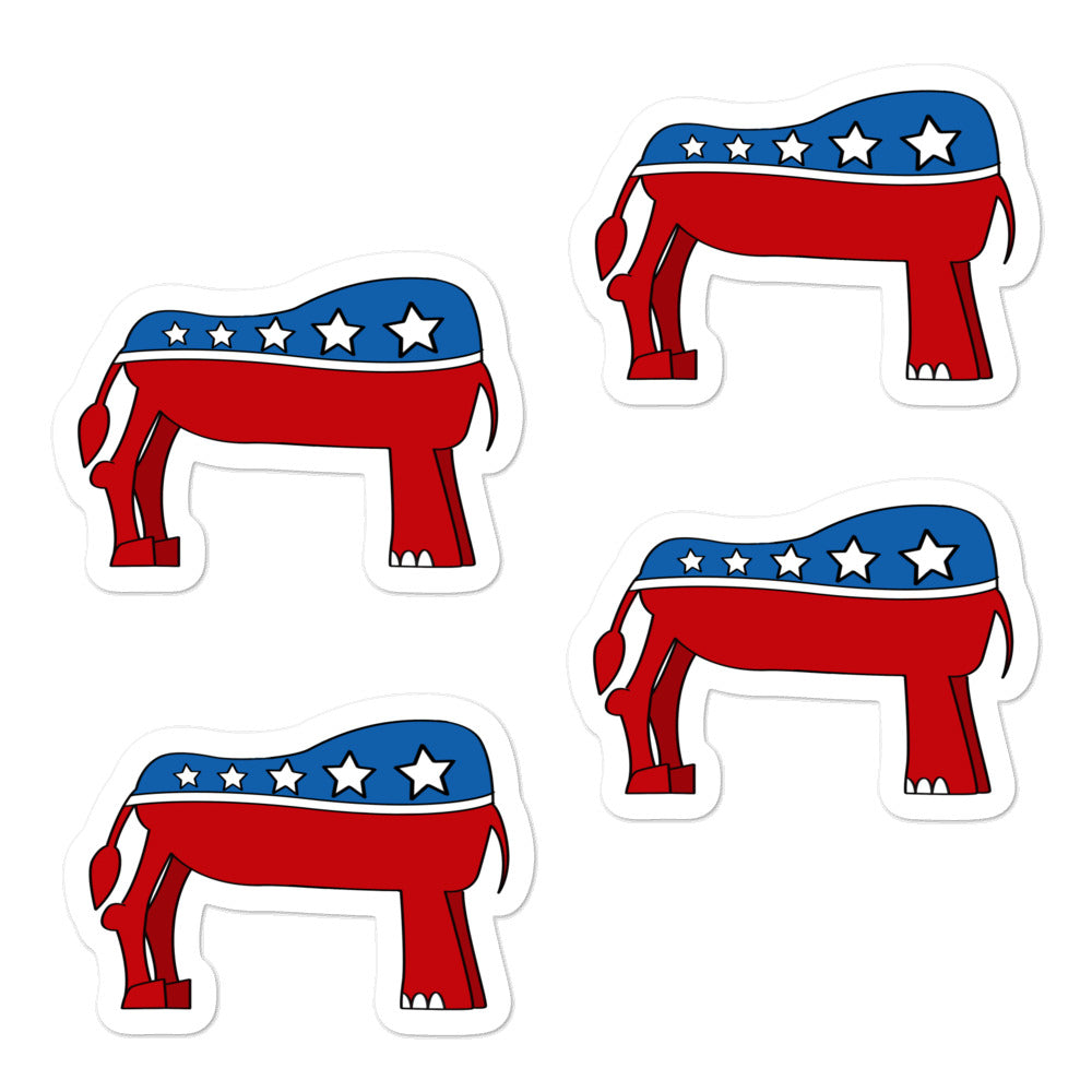 Eledonk Mixed Political Symbols Rear Ends Quality Vinyl Stickers - Chodmunch