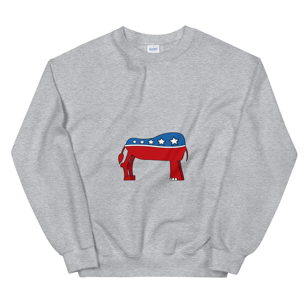 Eledonk Mixed Political Symbols Rear Ends Sweatshirt - Chodmunch
