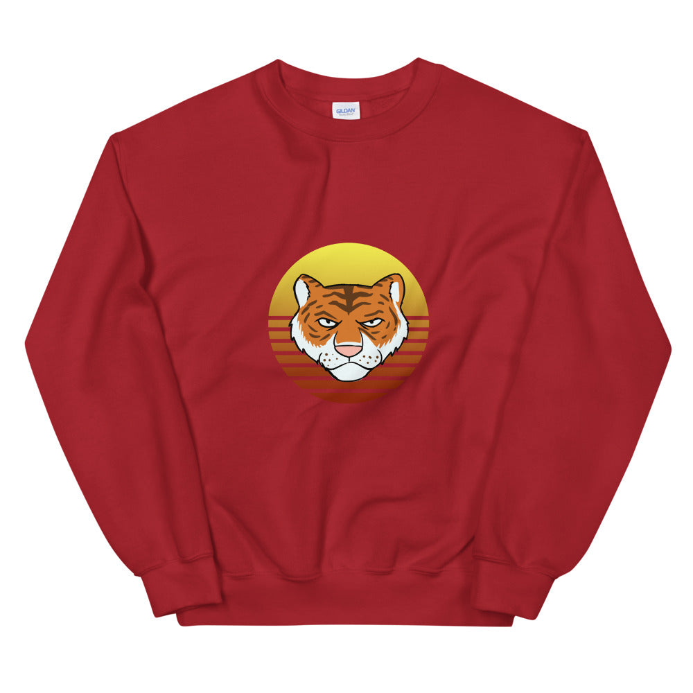 Tiger Retro Sun Sweatshirt - Chodmunch
