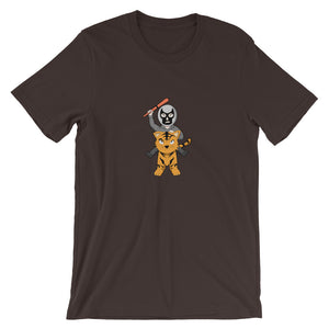 Masked Man Riding Tiger Chibi T-Shirt - Chodmunch