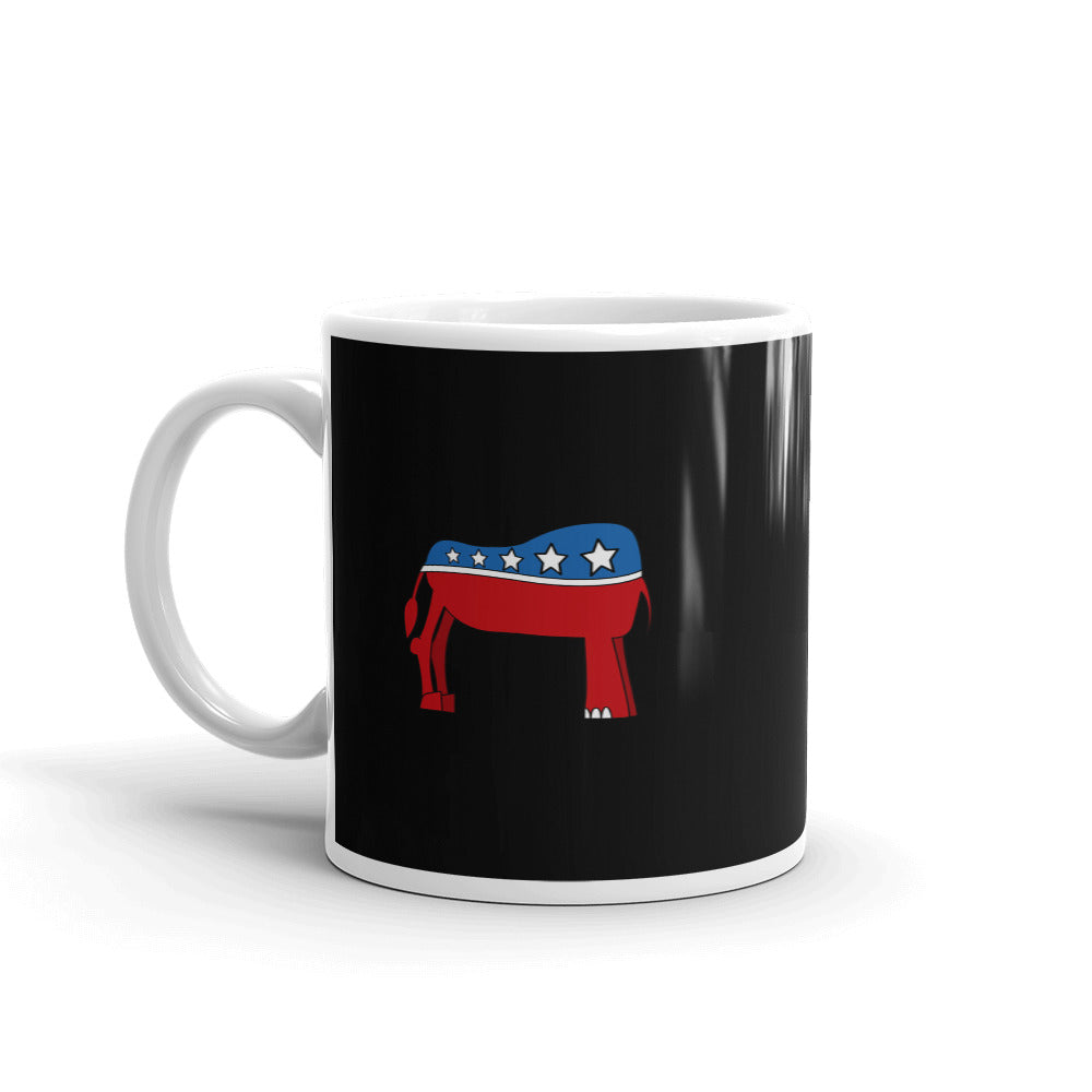 Eledonk Mixed Political Symbols Rear Ends Black Mug - Chodmunch
