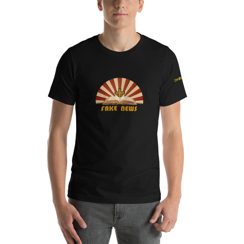 Fake News T-Shirt with Logo - Chodmunch