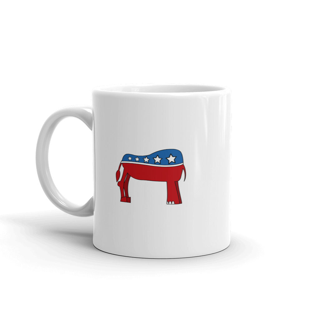 Eledonk Mixed Political Symbols Rear Ends White Mug - Chodmunch