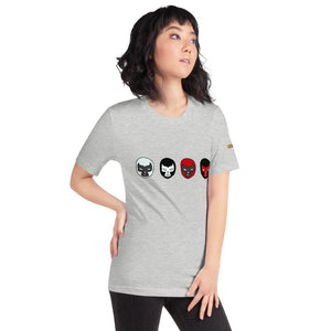 Multi Mask T-Shirt with Logo - Chodmunch