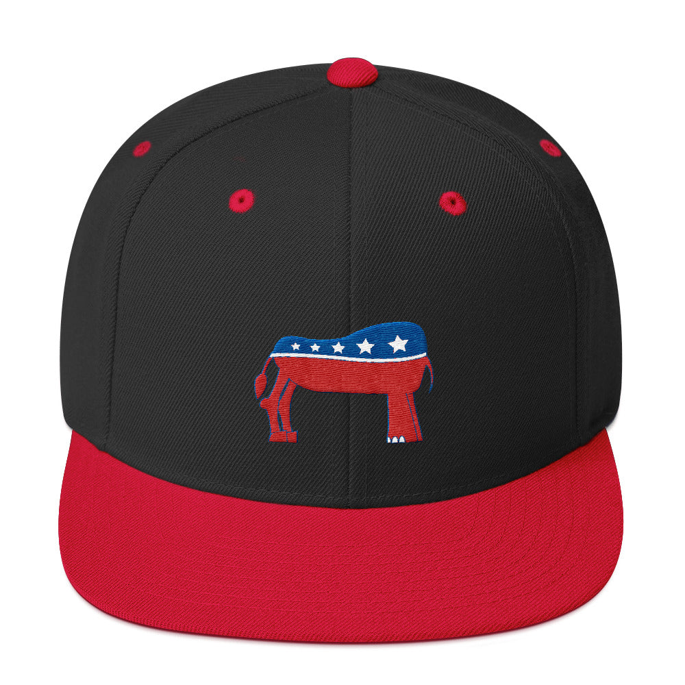 Eledonk Mixed Political Symbols Rear Ends Snapback Hat - Chodmunch
