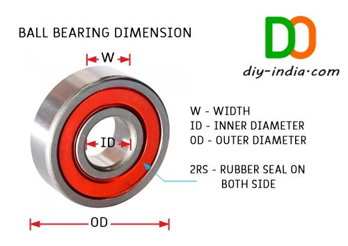 625-2RS Bearings Dimension