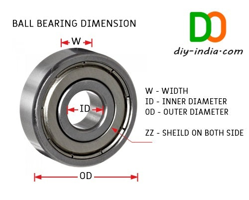 624ZZ Bearings Dimension