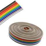 10 Wire Flat Ribbon Cable - 5 Meter, Multi Color